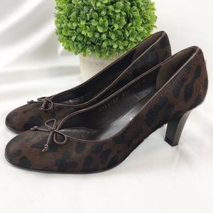 Salvatore Ferragamo animal print pony hair heels